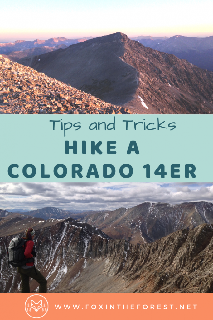Tips and tricks for hiking a Colorado 14er. How to plan and hike your first fourteener. Mountain hiking tips for Colorado. Bucket list activities in Colorado. #Colorado #mountains #hiking
