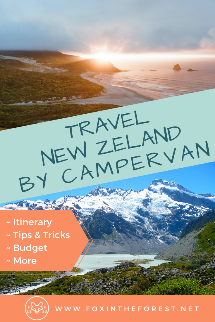 Travel in New Zealand by campervan. Tips and tricks for budget New Zealand travel. Budget holiday in New Zealand. Comprehensive itinerary for the South Island of New Zealand. Tips for vanlife in New Zealand. How to find a rental campervan in New Zealand. What to see on the South Island of New Zealand. #NewZealandTravel #travel #vanlife #budgetnewzealand