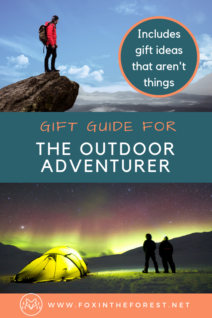 Gift ideas that aren't material things for adventurers. Outdoor gifts for hikers, campers, bikers, backpackers. Gift ideas for hikers that aren't things. #giftguide #hiking #camping #biking #outdoors