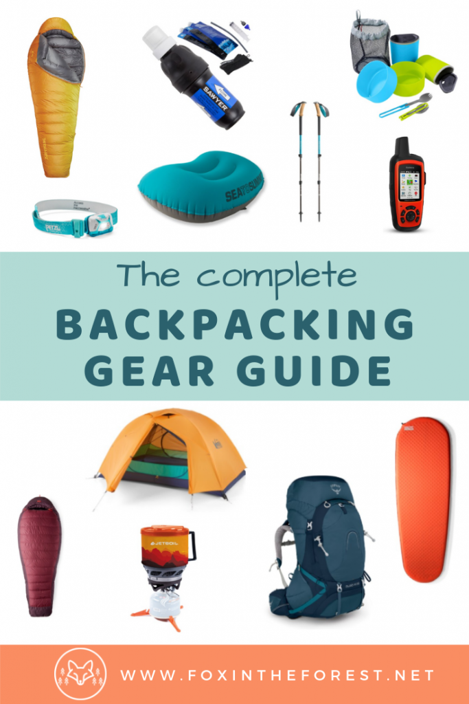 Best beginner backpacking gear. Wilderness camping gear guide. Beginner backpacking gear list. Gear you need to go backpacking or wilderness camping. #camping #hiking #backpacking #wildernesscamping #outdoors