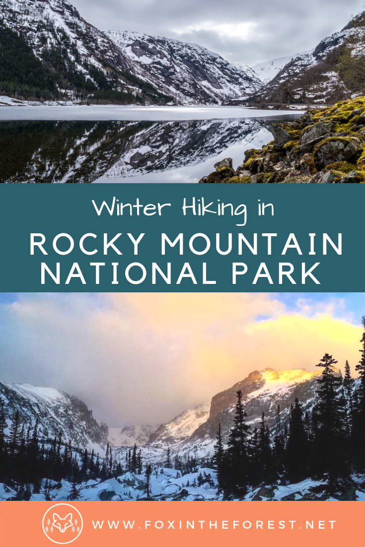 Great beginner hike in Rocky Mountain National Park. Amazing winter hike in Rocky Mountain National Park. Visiting Rocky Mountain National Park in winter. #hiking #snowshoeing #rockymountainnationalpark #colorado #travel