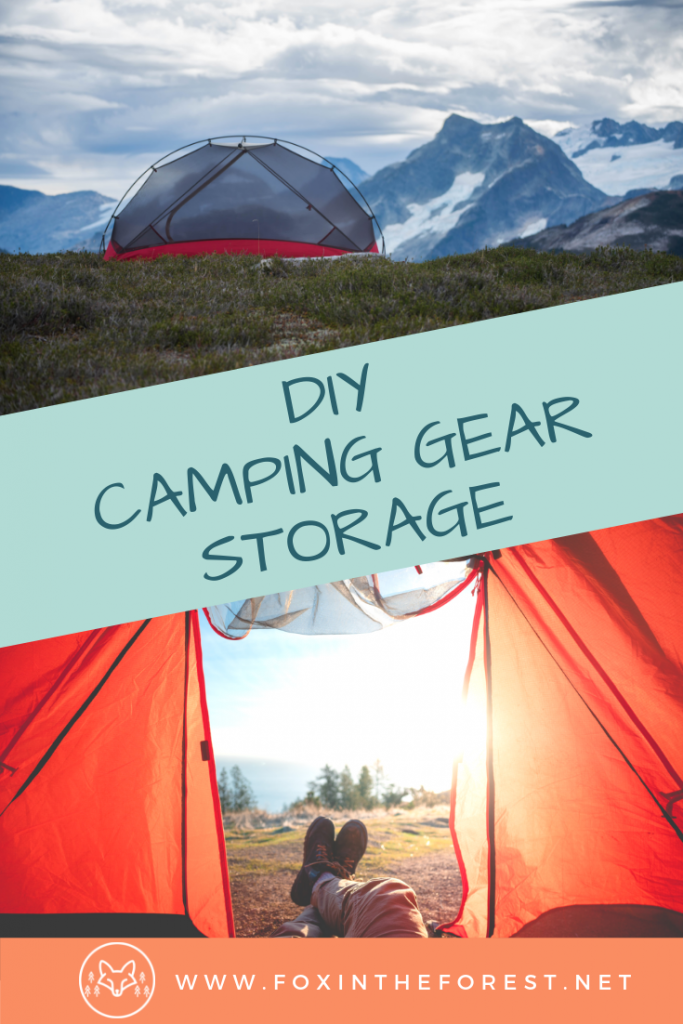 Make your own DIY outdoor gear storage closet. Camping gear storage ideas. Homemade climbing gear storage. Camping gear organization. Do it yourself storage for outdoor gear. #hiking #camping #climbing #organization