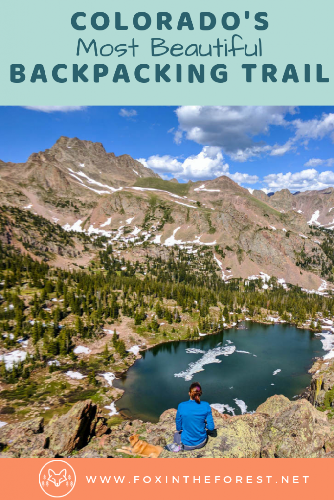 Bucket list backpacking loop in Colorado. Best backpacking trail in Colorado. Scenic backpacking in Colorado. Intermediate backpacking trail. #backpacking #wildernesscamping #colorado #travel