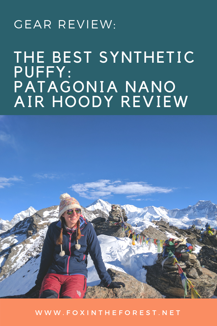 Looking for the perfect synthetic puffy for your winter outdoor excursions? Check out the award-winning Patagonia Nano Air Hoody. It packs down small, keeps you warm and regulates your body temperature on the go. It's a fantastic puffy layer, perfect for the outdoors, the city and travel. #hikingclothes #outdoorclothing #patagonia #puffy