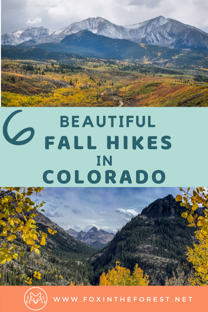 Best fall hikes in Colorado. The complete guide to autumn foliage viewing near Denver, Aspen, Breckenridge, and Vail. Things to do in fall in Colorado. Fall colors hikes in Colorado. #colorado #hiking #travel