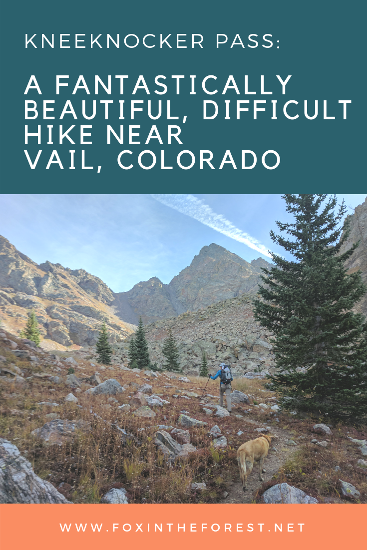 Discover one of Colorado's best kept secrets – Kneeknocker Pass outside of Vail, Colorado. Follow the climber's trail to stunning views on one of Colorado's most difficult hikes. Hike during the fall to experience a magical aspen grove and plenty of sweeping mountain vistas. #hiking #travel #colorado #Coloradohikes