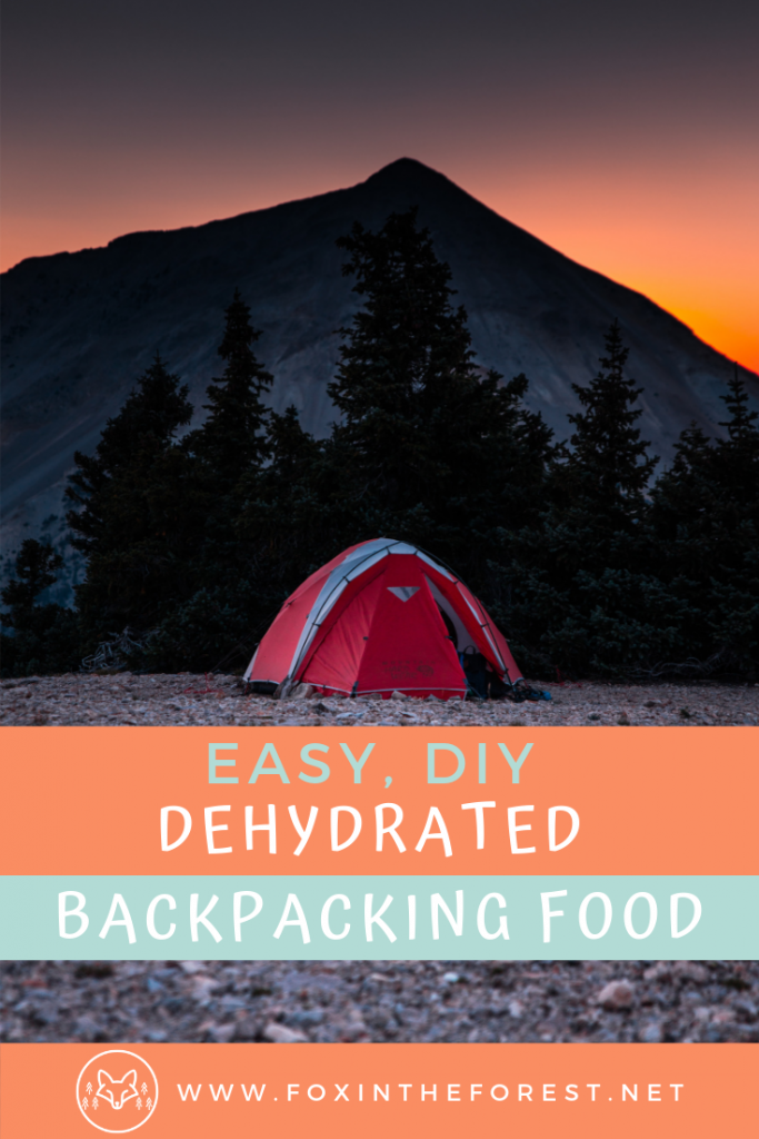 How to make your own backpacking meals. Easy DIY backpacking meals. How to dehydrate your own backpacking meals and make homemade hiking food. #cooking #wildernesscamping #backpacking #hiking #outdoors