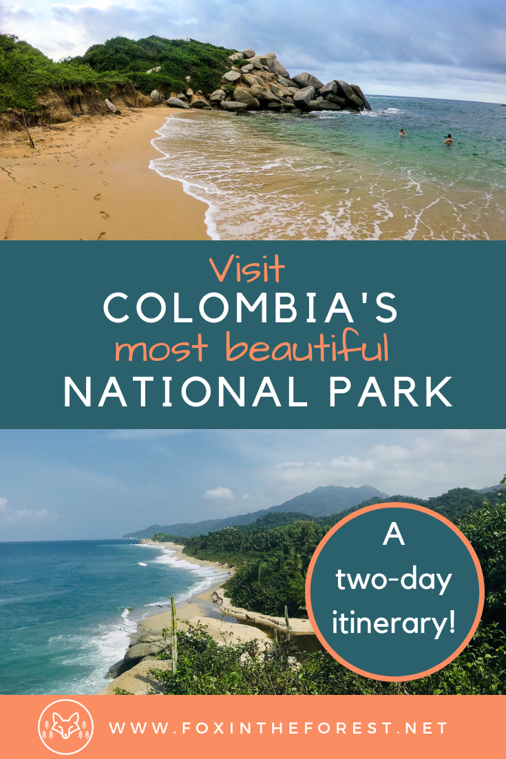 Visit Tayrona National Park, Colombia. A complete guide to Tayrona National Park, Colombia. Best hikes in Colombia. Best Beaches in Colombia. Where to stay, things to do and tips for visiting Tayrona National Park. #travel #colombia #adventuretravel #camping