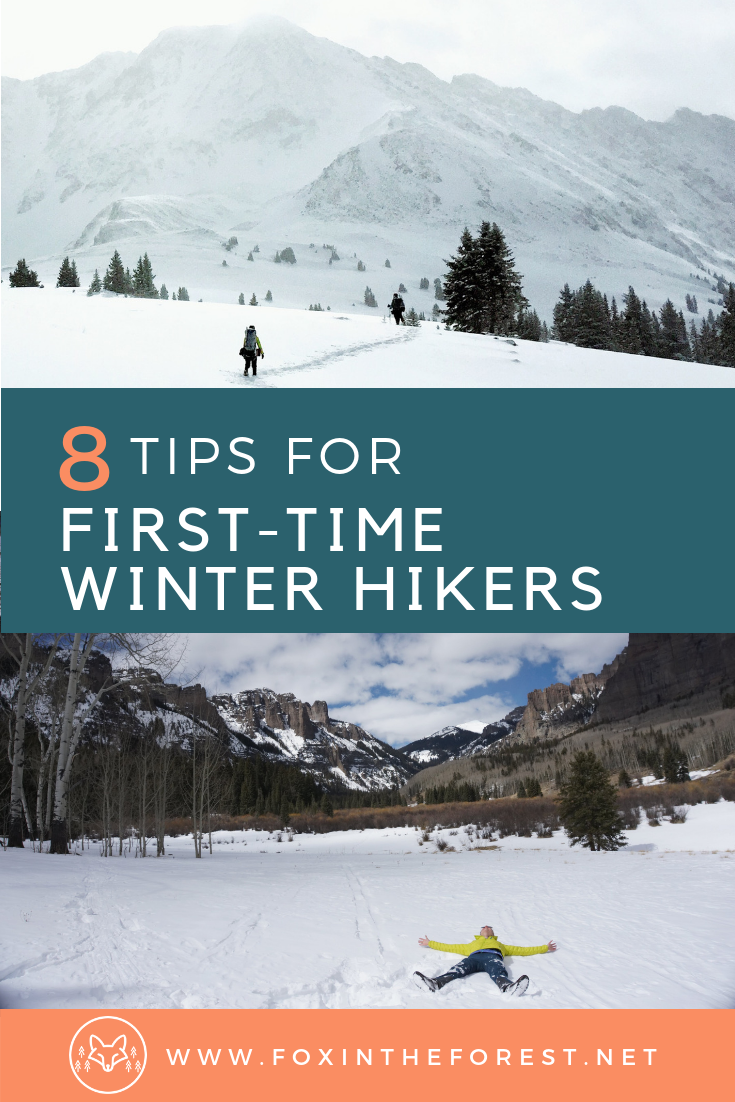 Tips and tricks for hiking and snowshoeing in winter. How to survive your first winter hike. #winter #hiking #snow