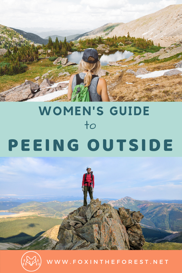 A woman's guide to peeing outside. This pee funnel allows you to pee standing up. Tips on how to use a pee funnel. The best pee funnel for women. How to care for your pee funnel. #outdoorwomen #outdoors #hiking #camping