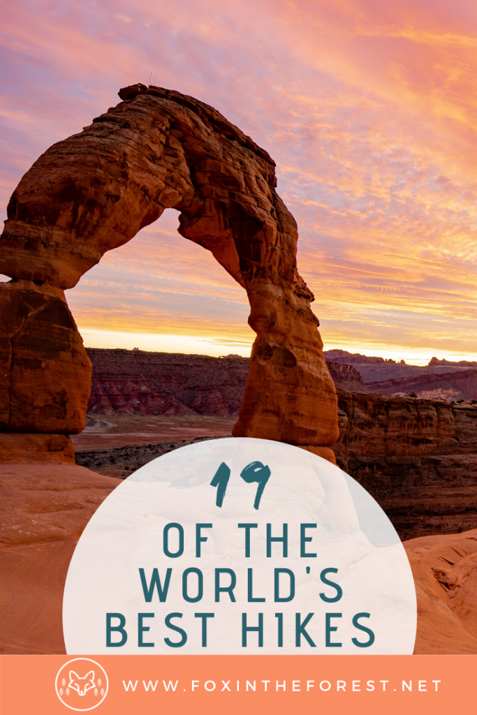 The most inspirational hikes in the world. Best places to hike in the world. Incredible bucket-list hikes. Travel inspiration for hikers. #hiking #outdoors #travel