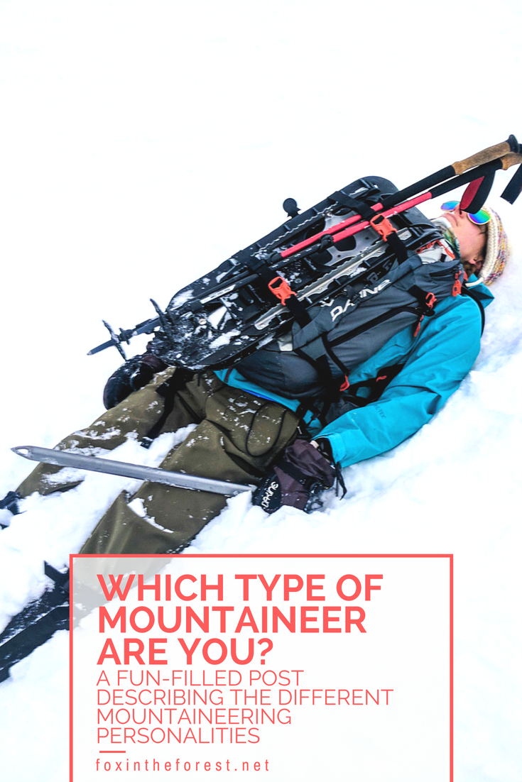 A humorous post about the different types of mountaineering personalities you find in the wild. Which best fits you? #mountaineering #getoutside #outdoors #justforfun #humor