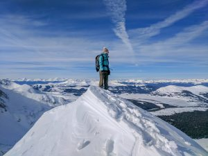 winter ascent of atlantic peak