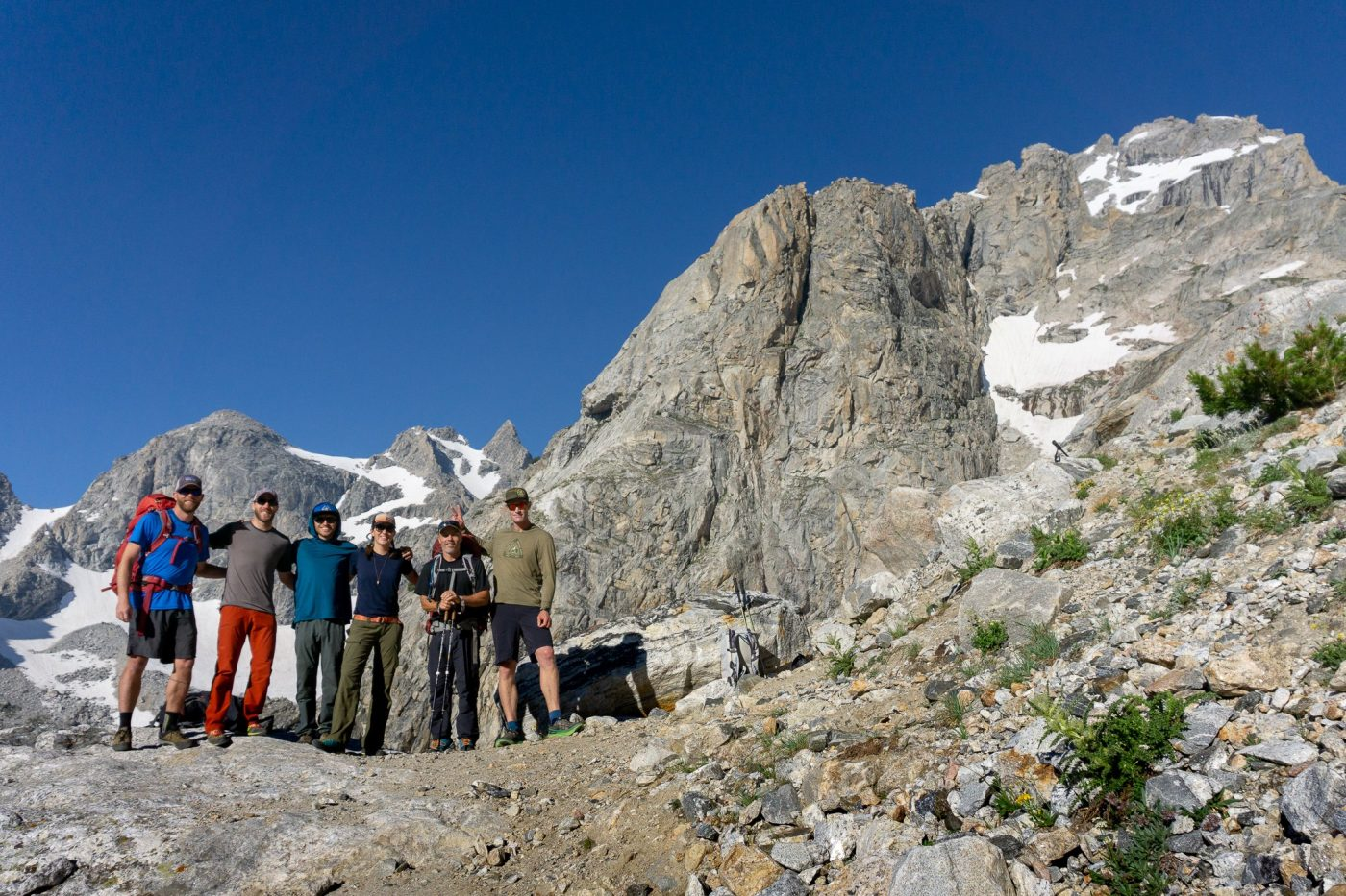 Climbing the grand teton with jackson hole mountain guides