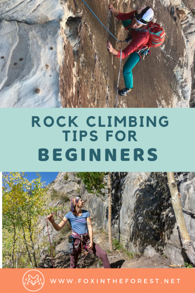 Rock climbing tips and tricks for beginners. Guide to rock climbing for women. How to get started with rock climbing including tips for indoor rock climbing and outdoor climbing. Fitness tips for rock climbing. #rockclimbing #fitness #outdoors