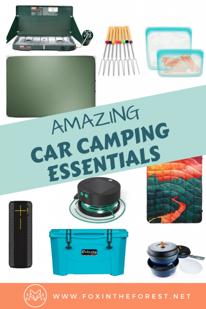 The best car camping gear. Awesome car camping accessories. Great car camping products and accessories. Gear for camping in your vehicle. Ideas for car camping gifts. #camping #outdoors #travel