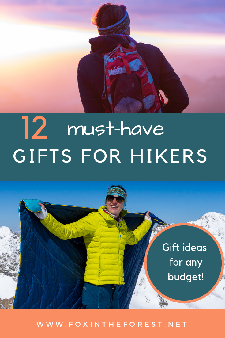 Gift ideas for hikers. Perfect gifts for women and men who hike. What to get a hiker for the holidays. Hiking gifts. #gift #hiking #holidays #giftguide #outdoors