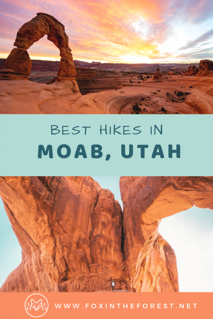 Your guide to the best hiking trails in Moab, Utah. Amazing bucket-list things to do in Moab. A Moab, Utah travel guide complete with things to do in Arches National Park and Canyonlands National Park. #utah #hiking #travel