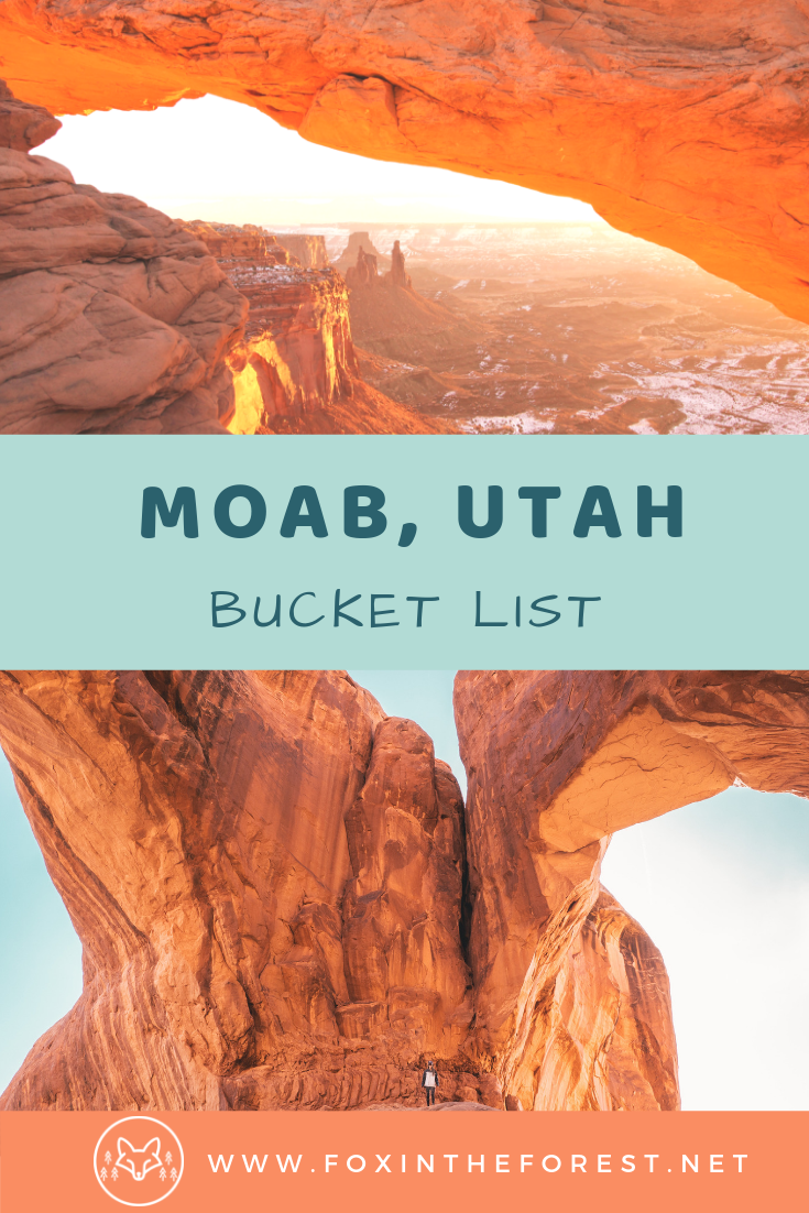 Getaway guide to Moab, Utah. Best things to do in Moab. Best hikes in Moab. Things to do in Arches National Park, Canyonlands National Park. Camping in Moab. #nationalparks #camping #hiking #climbing #utah