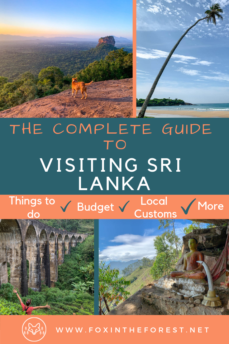 The complete guide to visiting Sri Lanka. Sri Lanka travel advice. Things to know before traveling to Sri Lanka. How to budget for Sri Lanka. Things to do in Sri Lanka. Sri Lanka Travel Tips. #srilankatravel #travel #asiatravel #adventuretravel
