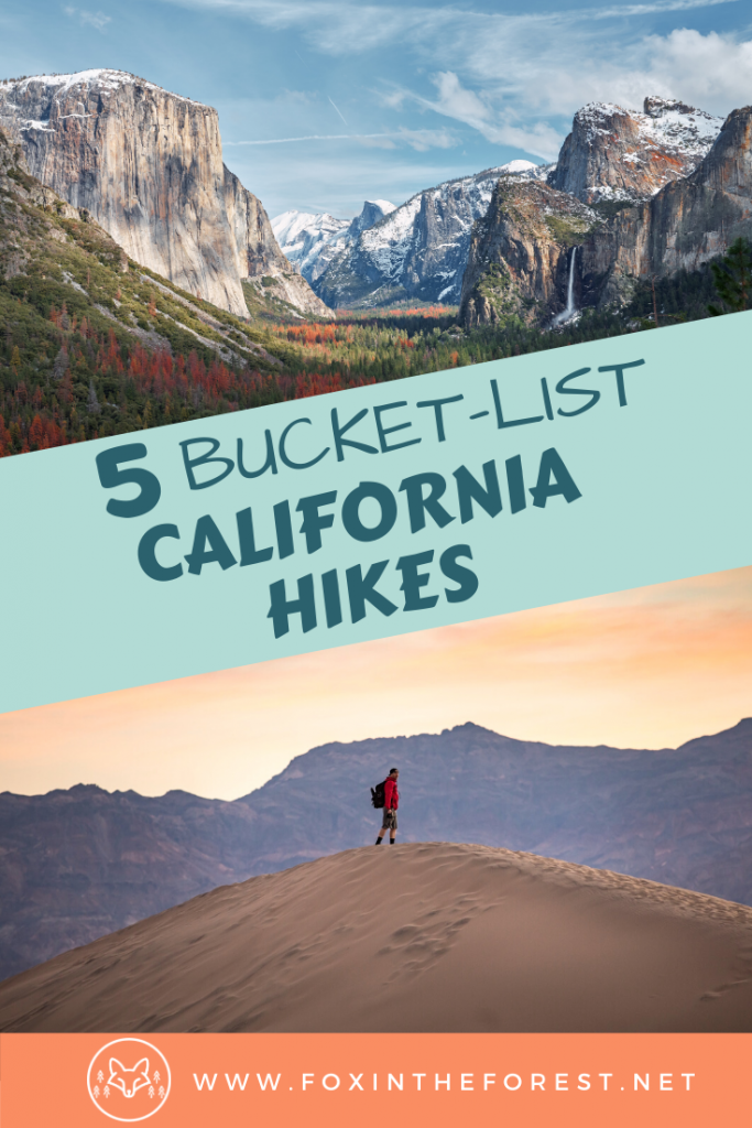 The best hikes in California. Includes hiking trails in the Bay Area, Los Angeles, Yosemite, and more. The most beautiful hikes in California with Pictures. #hiking #california #travel