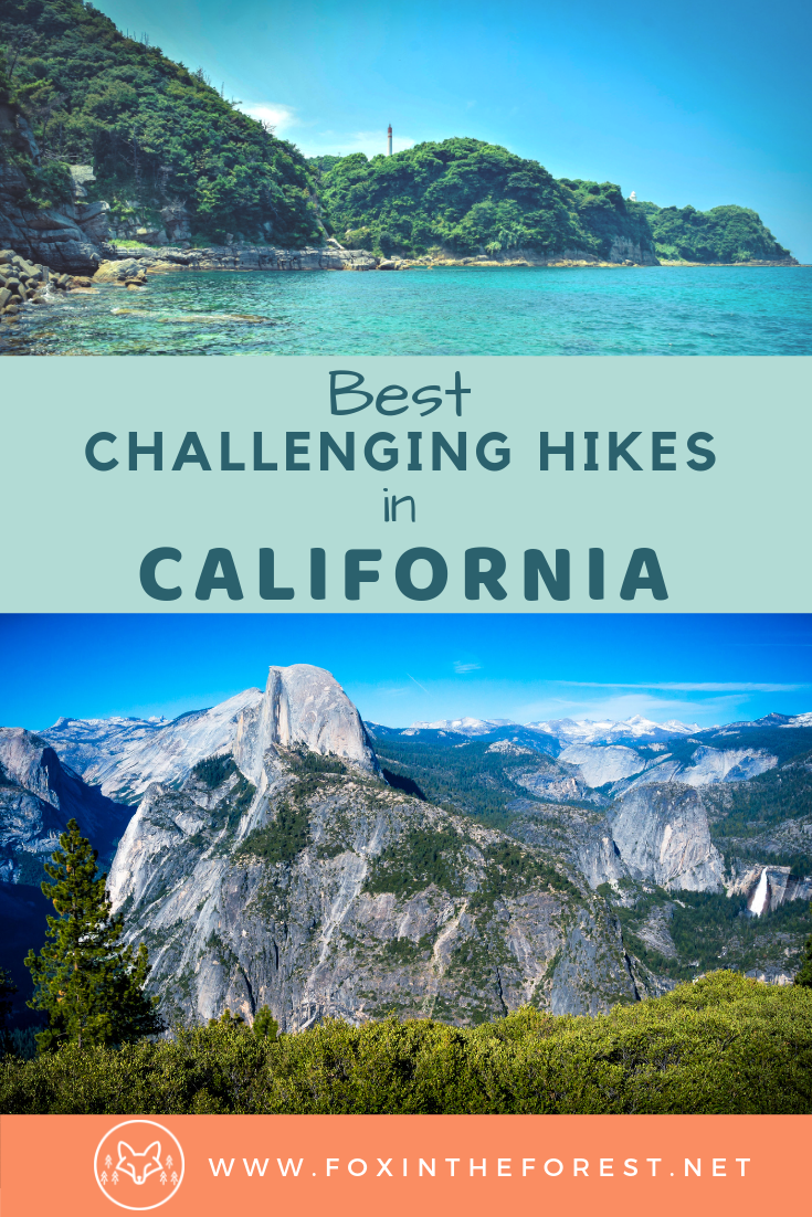 The best challenging hikes in California. A look at the best hiking trails in California and how to hike them. Bucket list hikes in California. California hiking guide. #california #hiking #nationalParks #travel