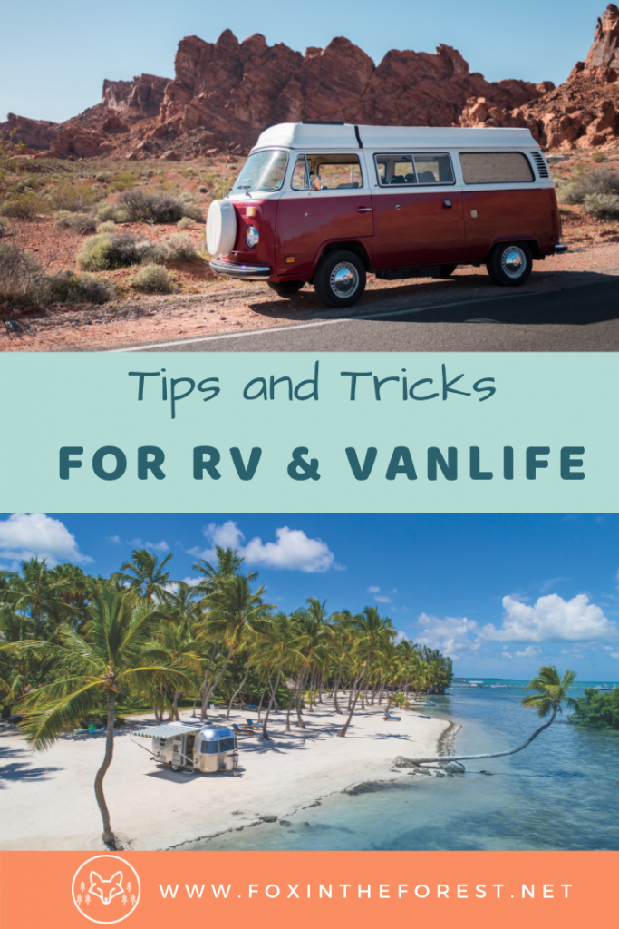 Tips and tricks for RV camping and Vanlife. How to and DIY hacks for RV and Vanlife. Tips for RV living. Organizational camping hacks. Tips and tricks for car camping. #Vanlife #RV #camping
