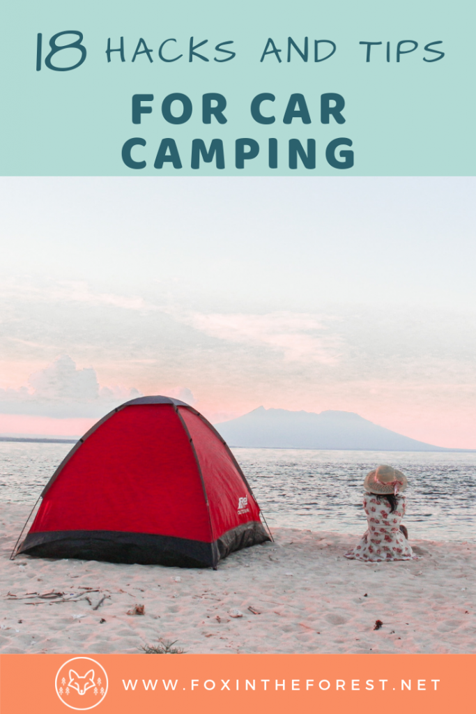 Car camping hacks. Tips and tricks for car camping. Car camping organization ideas. Tips for sleeping in your car. How to stay organized while car camping. #camping #roadtrip #travel