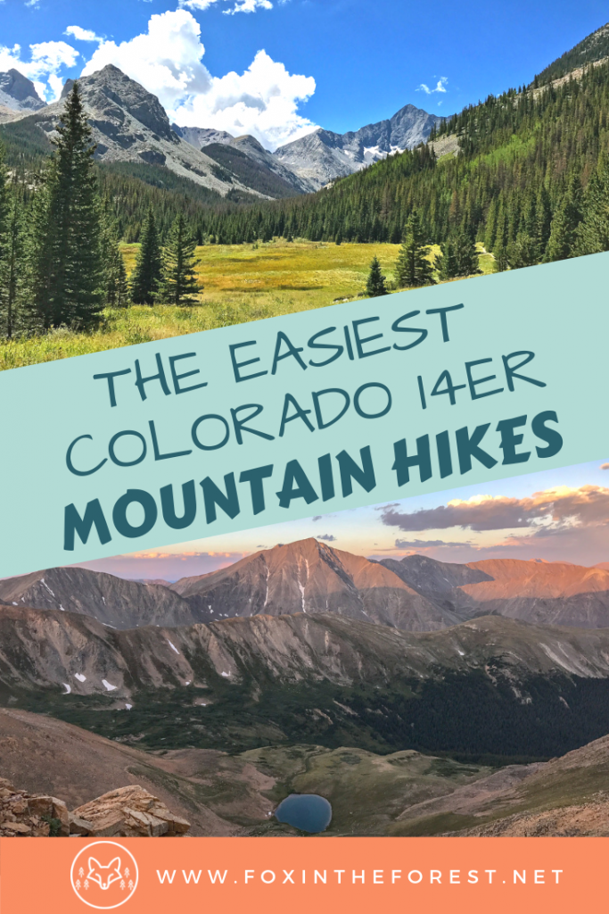 12 easy Colorado 14er mountain hikes. The best fourteener hikes in Colorado. Easier mountain climbs in Colorado. Bucket List difficult hikes in Colorado. #hiking #outdoors #mountaineering #14ers #colorado #adventuretravel