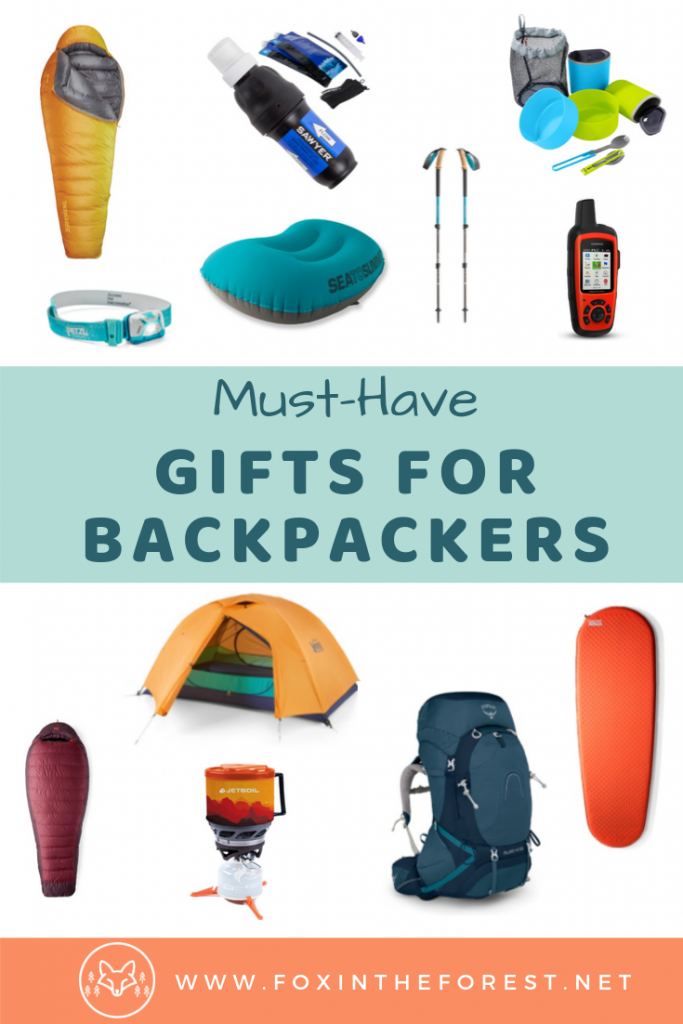 Amazing gifts for backpackers and backcountry campers. Gift ideas for campers and hikers. Best gifts for wild campers. Gift ideas for outdoor adventurers. #camping #giftideas #outdoors