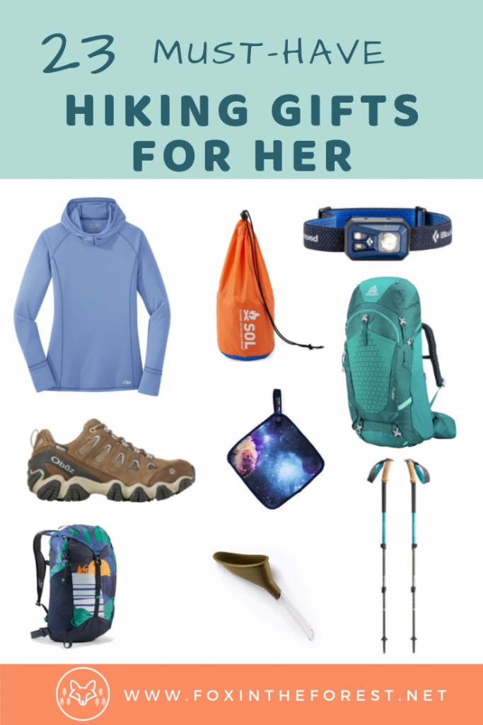 Hiking gift ideas for her. The best hiking gifts ofr women. Unique hiking gifts for her that she'll actually want this year. #giftideas #hiking #outdoors