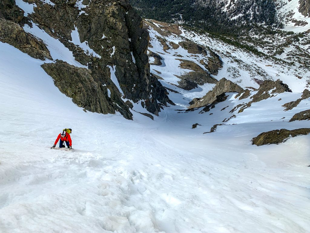 south arapaho peak skywalker couloir colorado