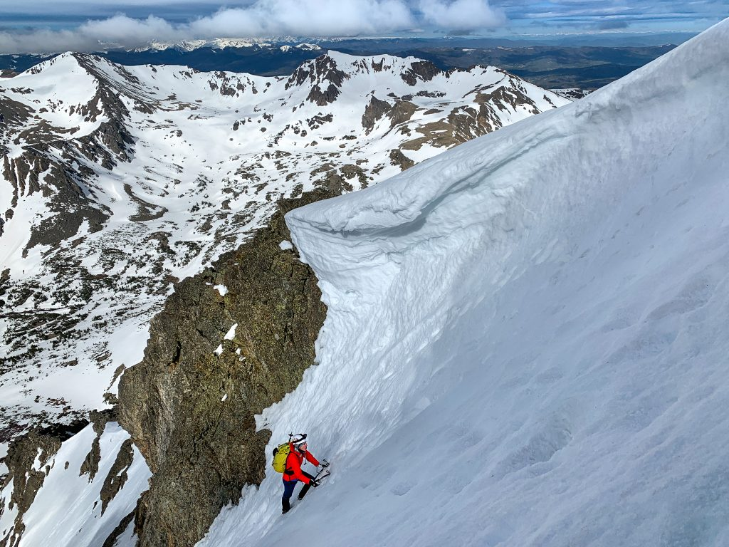 south arapaho peak skywalker couloir