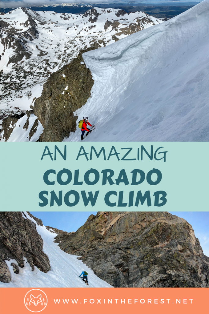 Best snow climb in Colorado. Classic alpine routes in Colorado. Best hikes in Indian Peaks Wilderness, Colorado. #climbing #mountaineering #colorado