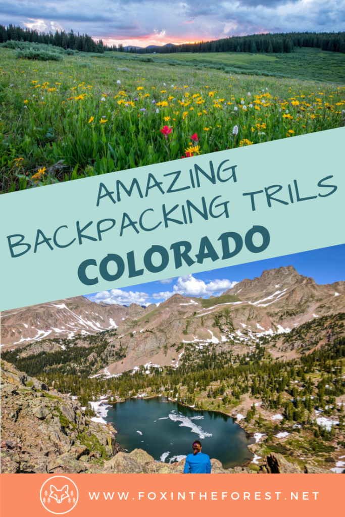 The best backpacking trails in Colorado. Excellent wilderness camping in the Rocky Mountains, the San Juan Mountains, and more. Adventure travel and backpacking near Denver, Colorado in the United States. #outdoors #colorado #hiking
