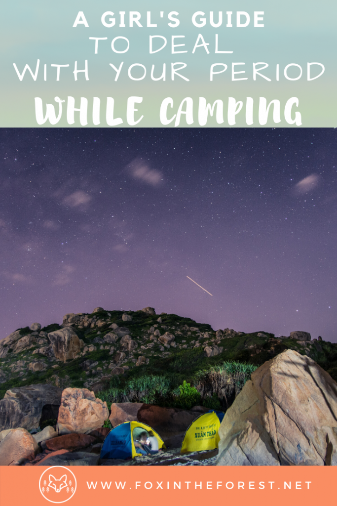 How to survive your period when camping and hiking. What to do when you get your period camping. Hacks for dealing with your period on a hike.  Tips for women's camping hygiene. #camping #hiking