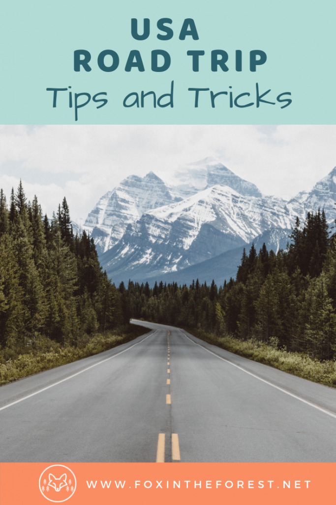 The ultimate list of USA road trip tips and hacks. Essential road trip tips. Planning a road trip. What to pack, snacks, and other hacks. #roadtrip #usa #travel