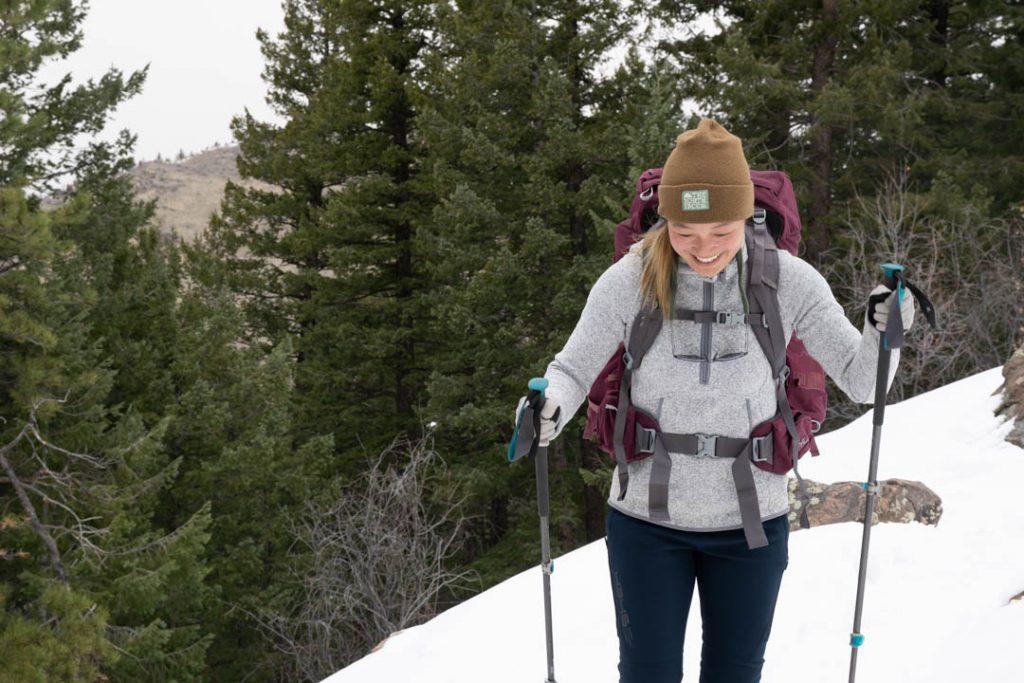 how to use trekking poles