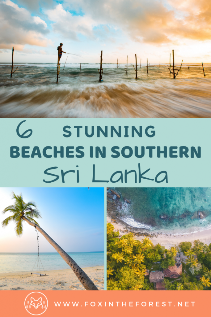 The best paradise beaches in southern Sri Lanka. Surf destinations and beautiful beaches in Sri Lanka. Travel to amazing beaches in Sri Lanka's southern coast. #travel #SriLanka #beaches