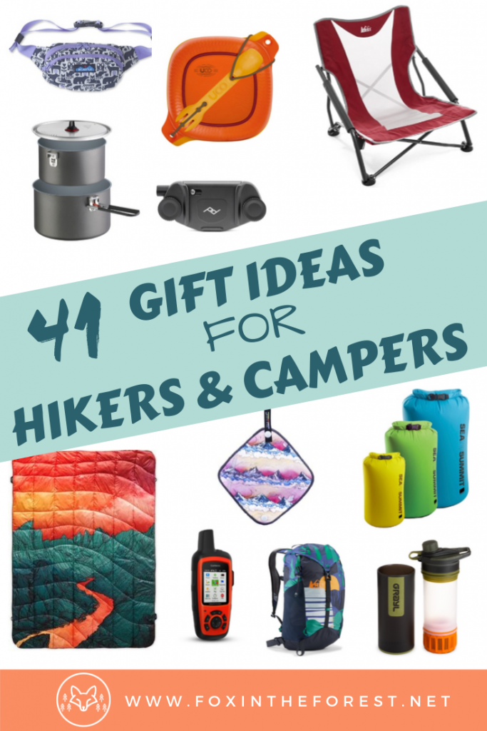 Gift ideas for outdoor lovers. Cool and unique gifts for hikers and campers. Camping gifts for her. Gifts for outdoor women. Gifts for adventure and budget travelers. Hiking gifts for her. #giftideas #holidays #camping #hiking #travel
