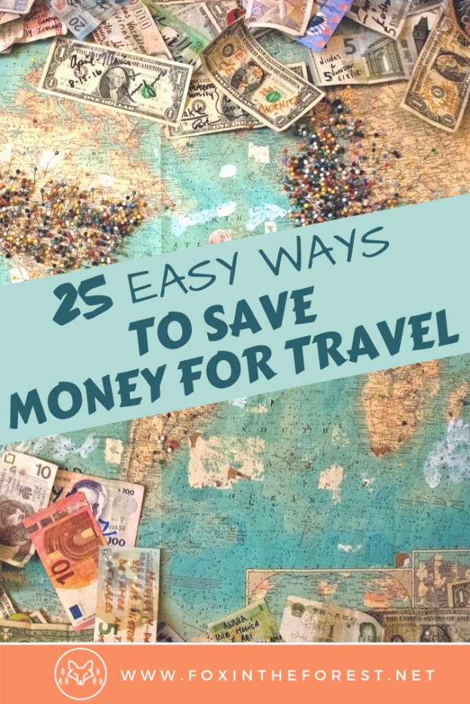 How to save money to travel. Tips and ideas to start a savings budget for travel. Easy ideas to put money aside for travel. Travel budget savings tips. #travel #money