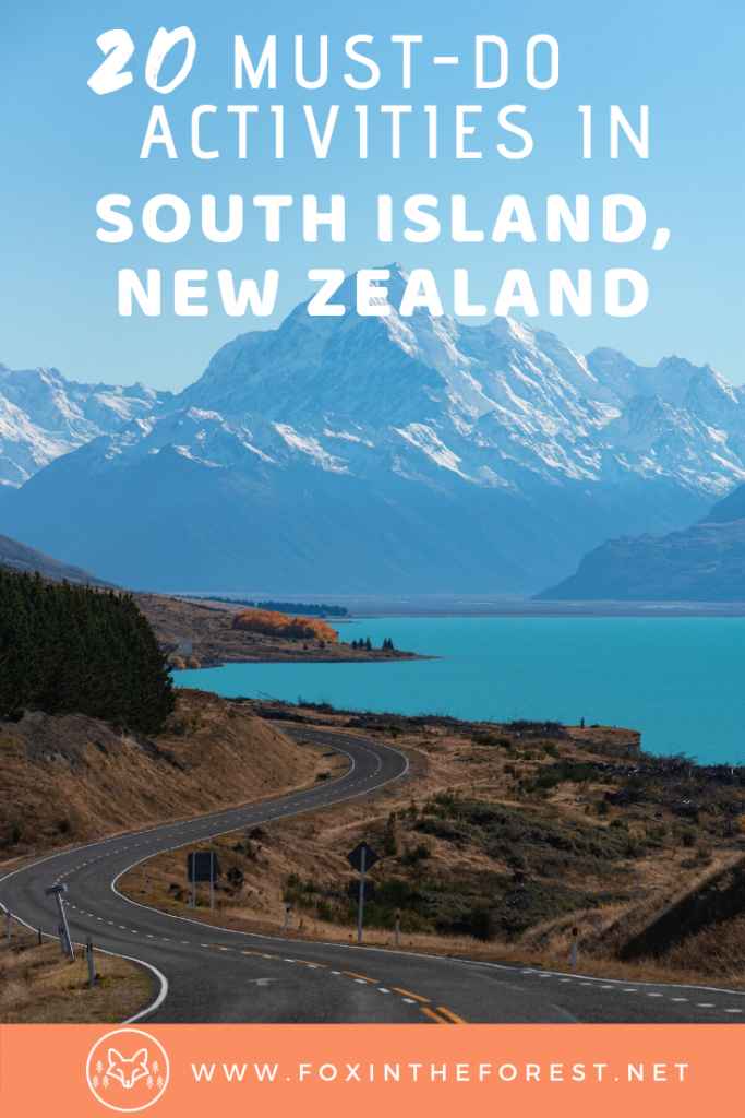 The complete list of things to do in the South Island of New Zealand. Includes the best travel spots, beautiful places, famous hikes, beaches, and more. #travel #NewZealand