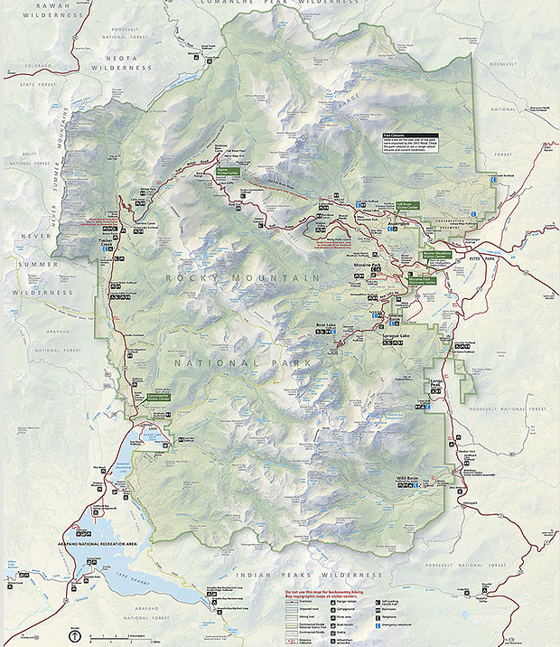 map of rocky mountain national park