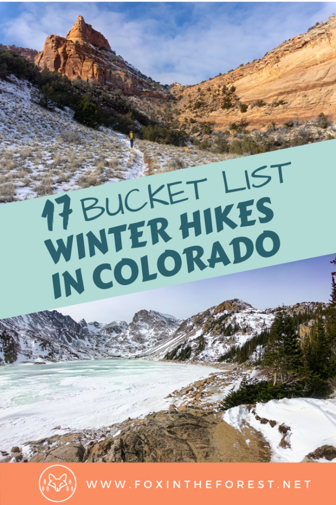 Amazing winter hikes in Colorado. A local's list of the best winter hikes in Colorado including winter hikes near Denver, Boulder, and Rocky Mountain National Park. #hiking #Colorado #travel