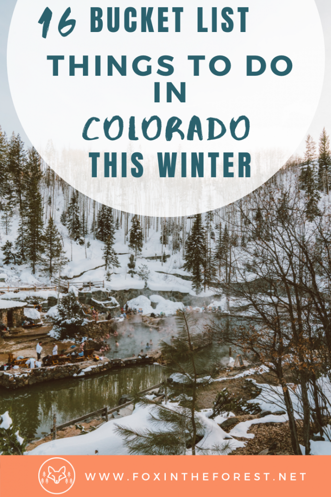Incredible things to do in Colorado in winter besides ski. The local's guide to winter activities in Colorado. Amazing outdoor adventures in Colorado in winter including hot springs, ice skating, snow shoeing and more. #colorado #travel #outdoors