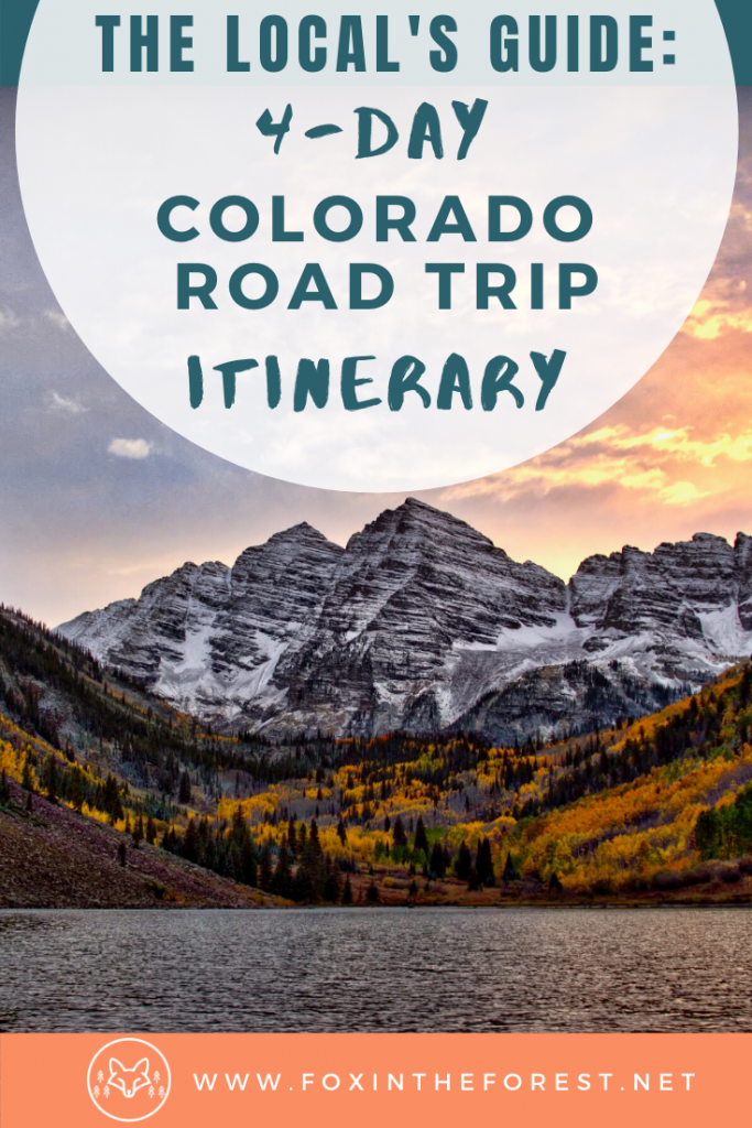 The perfect 4-day Colorado road trip itinerary. Includes the best way to spend 4 days in Colorado camping, hiking, visiting Estes Park, Rocky Mountain National park and more. The perfect Colorado road trip itinerary for summer. #colorado #travel #usa