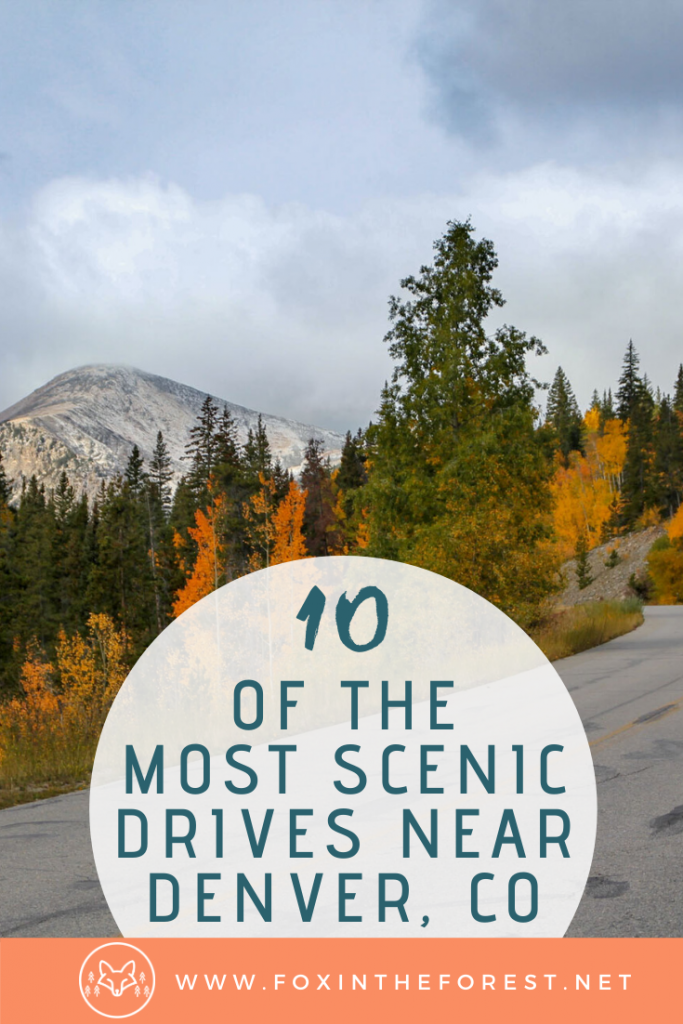 A look at the most scenic drives near Denver, Colorado. A local's guide to amazing mountain scenery near Denver. A look at the most beautiful mountain drives. #travel #colorado #denver