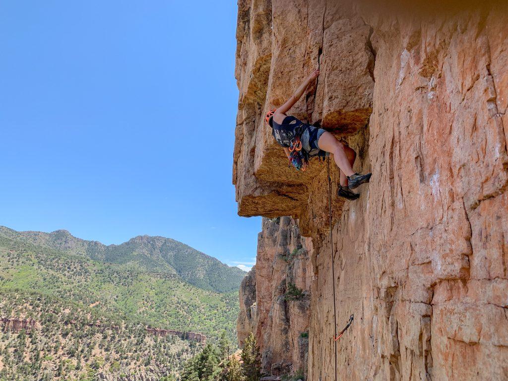 rock climbing at shelf road colorado