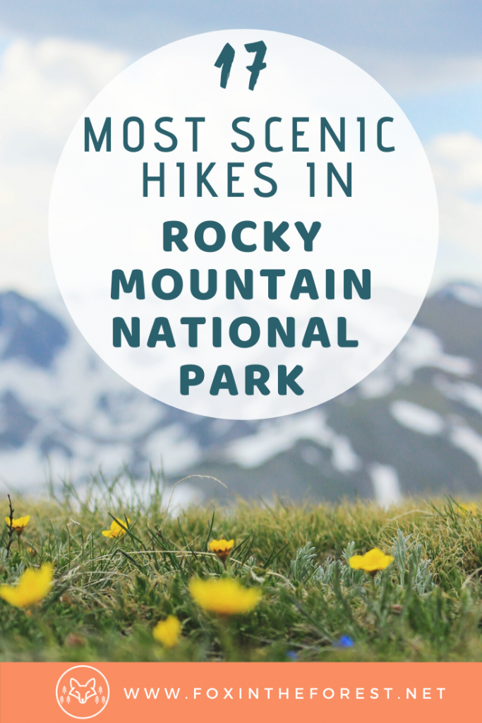 A local's guide to the best hiking in Rocky Mountain National Park. The best hiking trails for all seasons in the park including summer, fall and winter. #hiking #nationalparks #outdoors #colorado