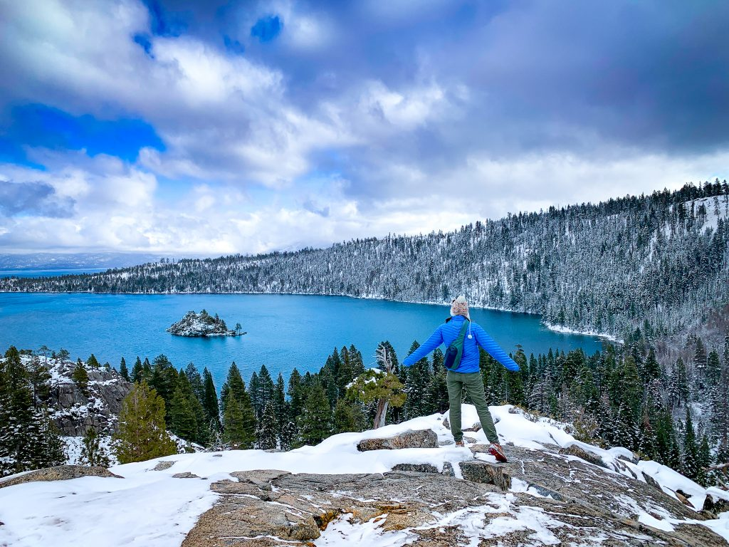 visiting lake tahoe in winter